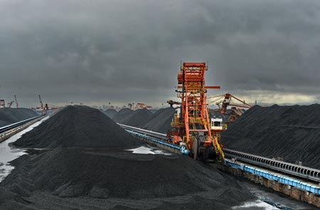 A coal storage area at the port of Qinhuangdao. (Photo/Xinhua)
