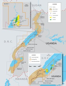 Uganda Oil Map