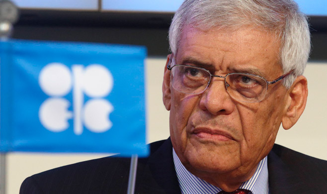 Organization of the Petroleum Exporting Countries (OPEC) Secretary-General Abdullah al-Badri addresses the media during the presentation of OPEC's World Oil Outlook in Vienna.