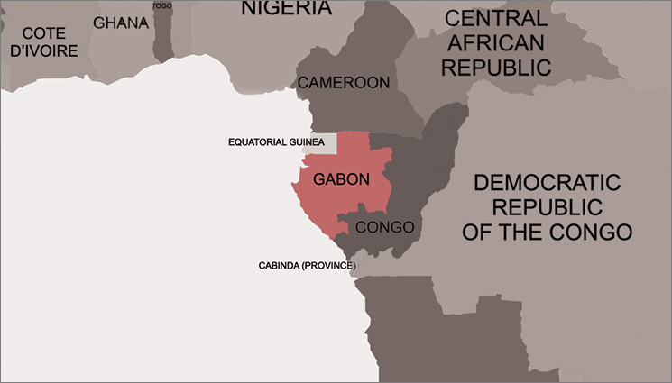 GABON-Africa-map