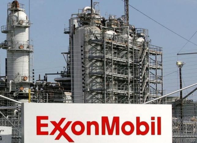 A view of the Exxon Mobil refinery in Baytown, Texas