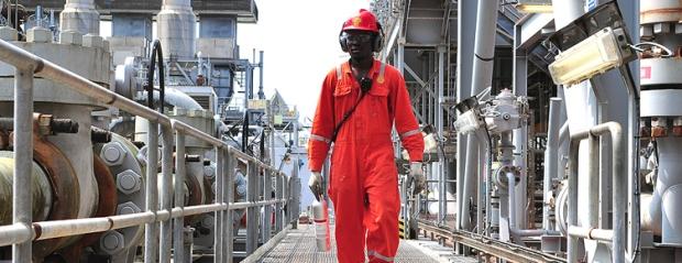 Nigeria Engineer working on shell plant