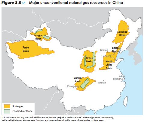 China shale plays